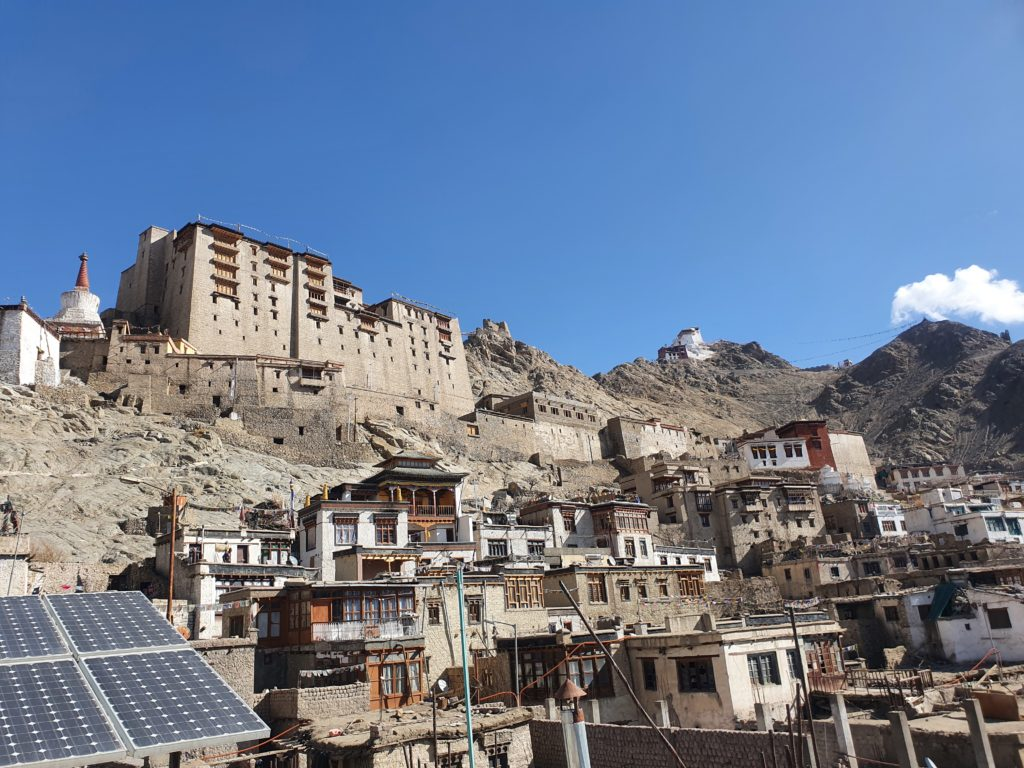 Leh palace view from old town