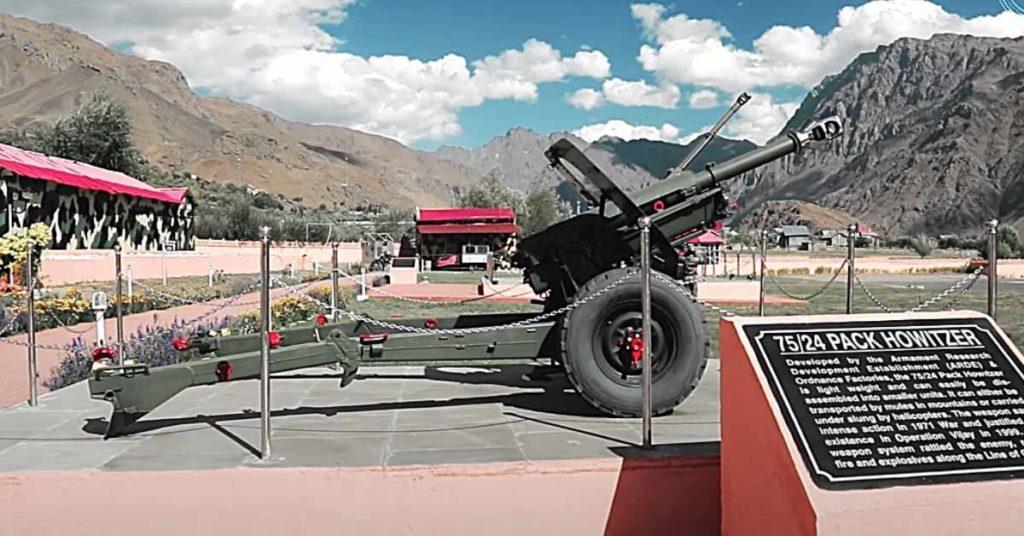 Drass war memorial Gun