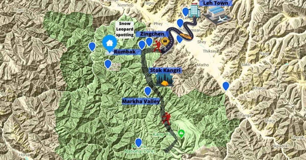 Hemis National Park map