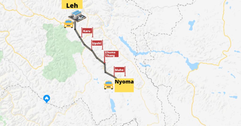 Nyoma Map