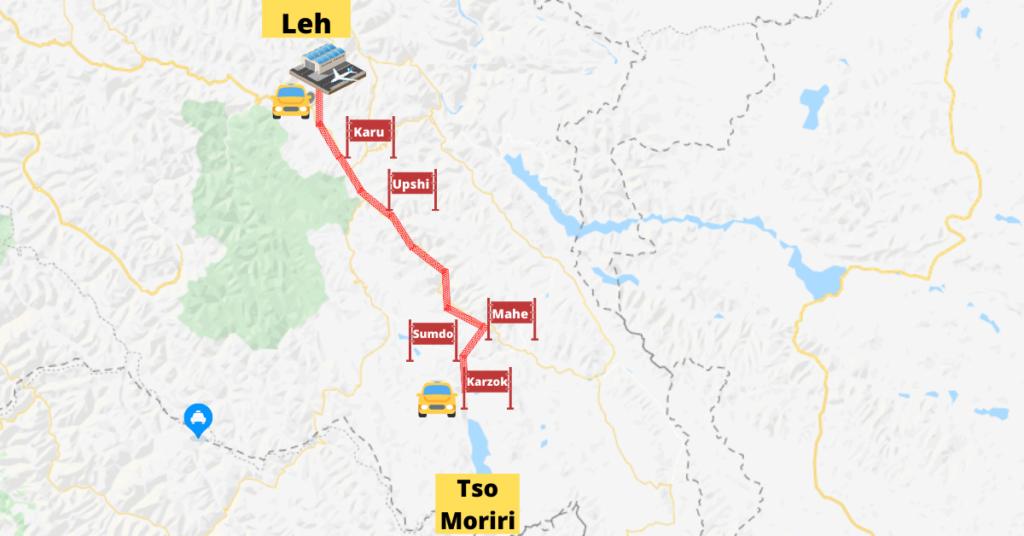 Tso Moriri Map