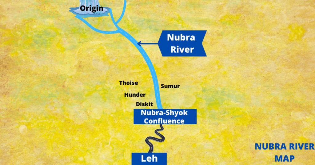 Nubra river Map