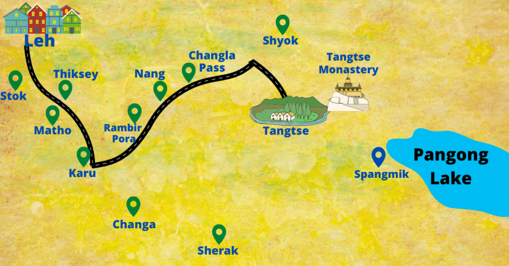 Tangtse map