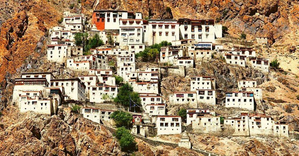 Karsha monastery in Zanskar valley