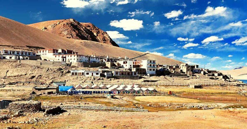 Karzok Monastery near Tso Moriri