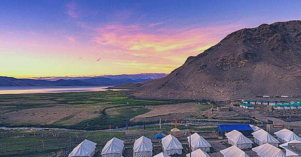 Camping at Tso Moriri Lake