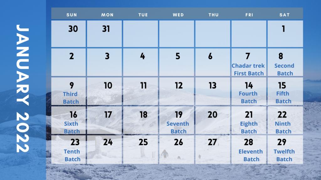 Chadar trek 2022 dates