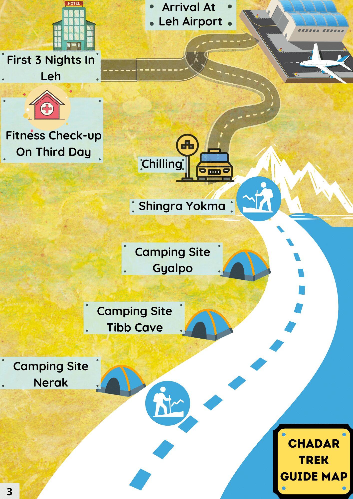 Chadar trek map